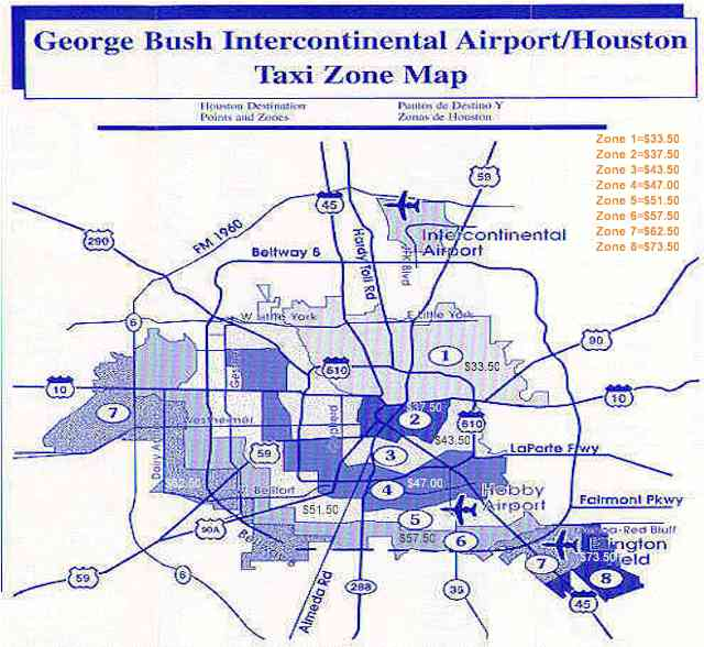 Estimated Houston Taxi Rates